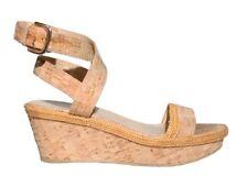STUART WEITZMAN Cork Wedge Sandals (SIZE 8)
