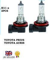 2 x H11 NEW TOYOTA PRIUS AURIS HYBRID HEADLIGHT BULBS CLEAR HALOGEN IS220D PAIR