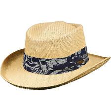PANAMA JACK ORIGINAL ** MENS GAMBLER HAT ** NEW LITE TOYO STRAW SUN SHADY GOLF