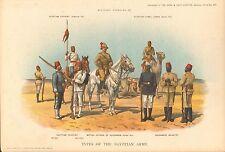 1900 Richard SIMKIN stampa militare, 147 tipi di L'esercito egiziano