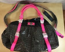 AUTHENTIC MARC BY MARC JACOBS COATED COTTON BAG PURSE PINK GREY BLACK NWT TOTE