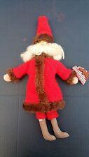 "Antique Handmade Folk Art Santa Claus Doll 18"" Stuffed Head body Arms and Legs"