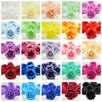 10X 50X Foam Roses Artificial Flower Heads Wedding Bouquet Party Home Decor DIY