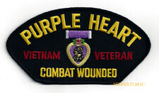 VIETNAM PURPLE HEART HAT PATCH COMBAT WOUNDED US MARINES ARMY NAVY AIR FORCE WOW