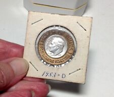 March of Dimes Polio Fighter Encased 1953D Dime- Uncirculated
