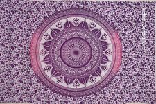 Indian Mandala Psychedelic Art Small Poster Tapestry Hippie Cotton Wall Hanging