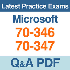 Microsoft Office 365 Practice Tests 70-346 & 70-347 Exams Q&A PDF