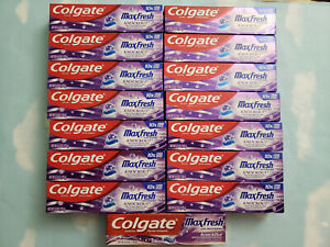 LOT(15) COLGATE MAX FRESH WHITENING KNOCK-OUT TOOTHPASTE  MINT FUSION  6OZ