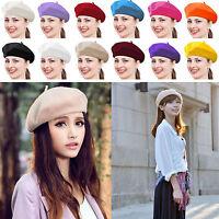 Fashion Warm Wool Winter Women Girl Beret French Artist Beanie Hat Ski Caps HN