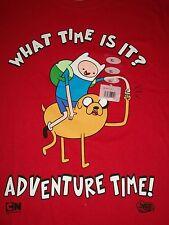 Finn & Jake Adventure Time Red Men's T-shirt Size XL Cartoon Network Dog Human
