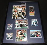 Super Bowl VI Framed 18x24 Repro Ticket & Photo Collage Dolphins vs Cowboys