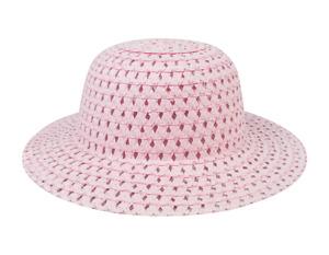 Baby Pink Trilby Cow Boy Hat (8.5x29) cm Easter Bonnet Straw Hat Kids Fashion