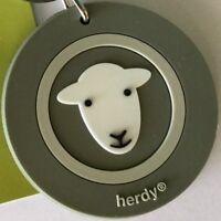 green and white herdy sheep lamb key ring souvenir UK Farm man's gift Farmer