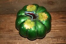 VINTAGE Chinese Enamel Box PUMPKIN GOURD Squash Melon CHINA