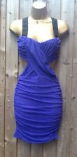 ASOS Cut out Liberty Purple Dress Size 10