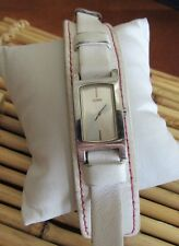 Guess Womens Watch White Leather Cuff BAND F104