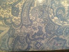 NEW RALPH LAUREN TWIN SIZE xd SHEET SET Blue White PAISLEY Floral