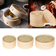 Bamboo Steamer Chinese Kitchen Cookware Rice Dim Sum Basket Cooker