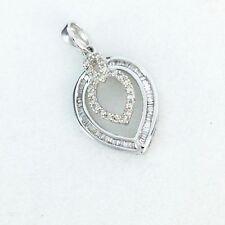18k White Gold & Genuine Diamond Pendant NWT $624