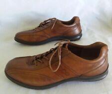 Women Ecco Leather Sneakers Walking Comfort Work Shoes Brown Sz Us 8 8.5 EU 39