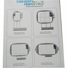 1 set Premium Embroidery Hoop set SA437+ SA438+SA439+SA441 for Brother Babylock