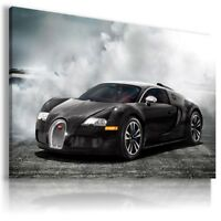 BUGATTI VEYRON BLACK Sport Cars Wall Canvas Picture ART AU572 MATAGA .
