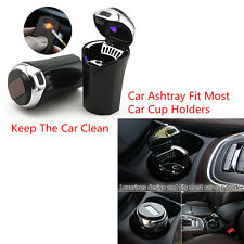 Car Cigar Cigarette Lighter Ashtray Blue LED Light Indicator w/USB Charge Cable