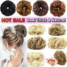 Natural Curly Messy Bun Hair Piece Scrunchie As Human Ponytail Hair Extensions