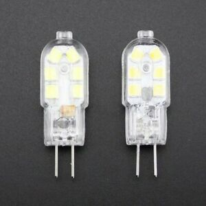 G4 LED Lamp Bulb DC12V High Brightness 12 x 2835SMD 2W Capsule Clear COOL WARM
