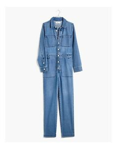 Madewell Denim Relaxed Coverall Jumpsuit in Glenroy Wash Small NWT