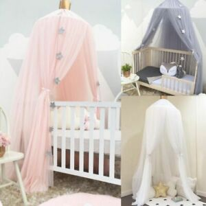 Stars Hanging Tent Baby Bed Crib Tulle Curtains Bedroom Children Kids Room