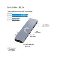 Dual Type C Hub Adapter 4K HD USB 3.0 Card Reader Dongle For MacBook Pro Mac