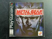 Metal Gear Solid Sony Playstation 1 One PS1 Manual Instruction BLACK 1st PRINT e