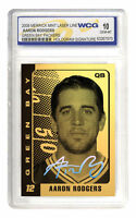AARON RODGERS Green Bay Packers 23K GOLD CARD Hologram Signature - GEM-MINT 10