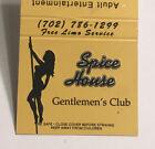 Vintage+Mint+30+Strike+Matchbook+Cover+Spice+House+Gentlemans+Club+Reno%2C+NV+d541