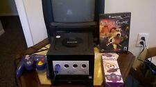 Nintendo GameCube Black Console Bundle With 1 Game & Game Boy Player RARE HTF
