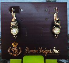antiqued silver plated crystal earrings Premier designs jewelry ''Vintage' '