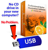 2019 Professional Illustrator Vector Graphics Image Drawing Software Program-USB