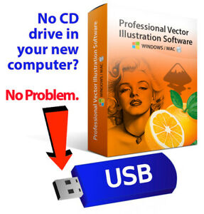 2020 Professional Illustrator Vector Graphics Image Drawing Software Program-USB