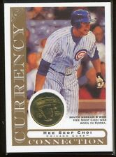 2003 Topps Gallery Currency Collection Coin Relics HC Hee Seop Choi Korean Coin