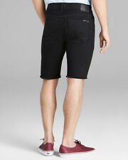NWT HUDSON Mens Hess 5 Pocket CutOff Short Jeans Shorts Size 31 Smith Black Wash