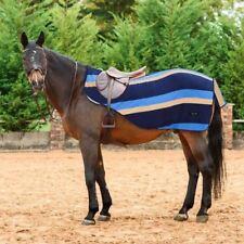 Everest Striped Ride On Fleece Hack Horse Pony Exercise Quarter Kidney Rug Sheet