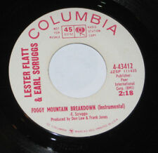 """Lester Flatt & Earl Scruggs 7"""" 45 PROMO HEAR BLUEGRASS Foggy Mountain Breakdown"""