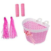 20.5 x 14 x 13.5cm Bike Bicycle Front Basket for Girls with 1 Pair Handlebar