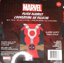 """Deadpool Wade Wilson Super Soft Plush Blanket Marvel Comics 50""""L X 70""""W New"""