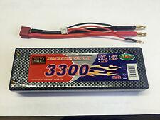 LIPO AKKU 7,4V 3300mAh 35C - 45C LI-PO RACINGPACK CASE XTC HSP HPI LRP JAMARA