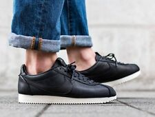 NIKE CLASSIC CORTEZ PREMIUM QS TZ Black Sail Leather Size UK 11.5 EU 47 US 12.5