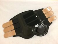 BLACK PATENT SPARKLY GOLD  BRUSHING BOOTS TENDON DRESSAGE NEOPRENE LINED S -XL