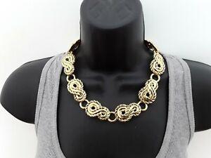 Lightweight Gold Tone 47cm Collar Necklace  ref:D33