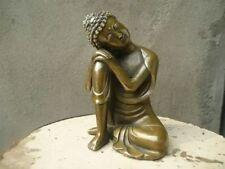 Chinese Fengshui Handmade Old Brass Copper Statue Sleeping Sakyamuni Buddha